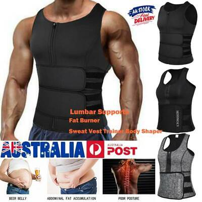 AU19.79 • Buy Men's Sports Sauna Suits Sweat Vest Body Shaper Gym Thermo Weight Loss Tank Tops