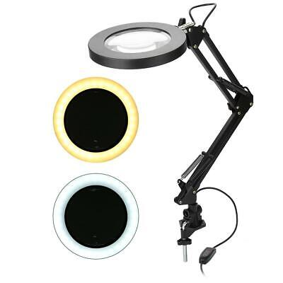 Desk Clamp 5x Magnifier Lamp – Eyelash Lamp Salon Surgery Beauty -LED Light • 13.59£