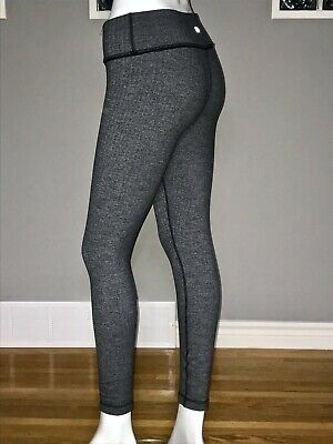 $ CDN58 • Buy Lululemon Wunder Under Pant 6 Heathered Black Herringbone 7/8 Guc