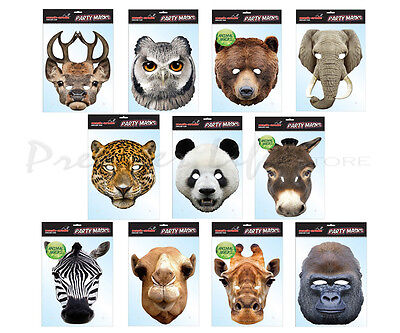 Fancy Dress Animal Party Masks Hen Stag Fun Celebration Birthday Parties Mask  • 4.08£