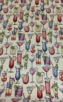 Chatham Glyn Cocktail, Tapestry Style Fabric For Curtain/ Upholstery/Cushions • 8.50£