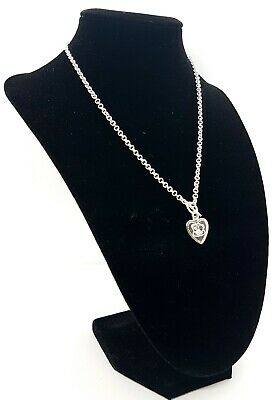 Sterling Silver 925 Necklace For Girls - Heart With A Teddy Bear  Me To You  • 22£