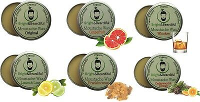 6 Pack Moustache Wax Strong Hold For Styling Handlebar Twists & Curls 15ml SAVE • 15.82£