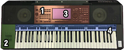 AU101.72 • Buy Schutzfolienset For Yamaha PSR-SX900 Keyboard: Display, Control Panel Kpl , Left