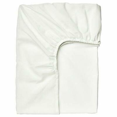 Ikea TAGGVALLMO Single Fitted Sheet 90x190cm [White] • 9.50£