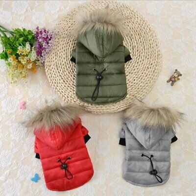 £6.95 • Buy Winter Dog Coats Pet Cat Puppy Chihuahua Clothes Hoodie Warm For Small Dog