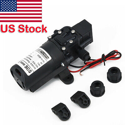 $19.99 • Buy 12V Water Pump 130PSI Self Priming Diaphragm High Pressure Automatic Switch