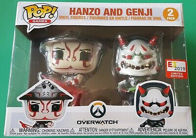 AU24.90 • Buy Hanzo And Genji - Overwatch - Funko Pop! Vinyl 2 Pack