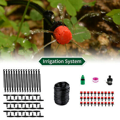 25M Automatic Drip Irrigation System Kit Micro Sprinkler Garden Plant Watering • 9.90£