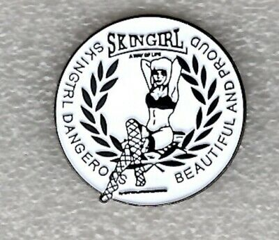 Skingirl Pin Badge. Dangerous Beautiful And Proud Skinhead Metal Enamel • 2.99£