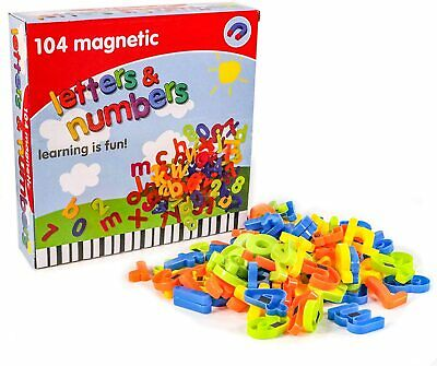 104 Pcs Magnetic Letters Alphabet & Numbers Fridge Magnets Toys Kids Learning • 8.07£