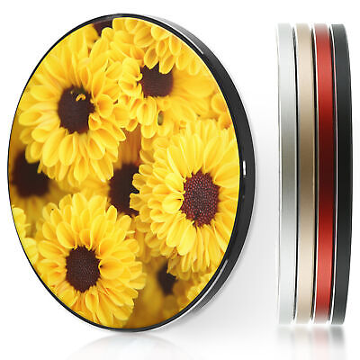 AU44.12 • Buy QI Wireless Charger For Apple Iphone 11/XS/8/Samsung S10/S9/S8 - Yellow Flowers
