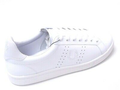 Fred Perry Mens Shoes Trainers Uk Size 9 To 11  B7211U B721 White Leather • 47.99£