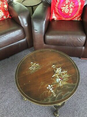 Vintage Japanese Occasional Table Hand Painted. • 99£
