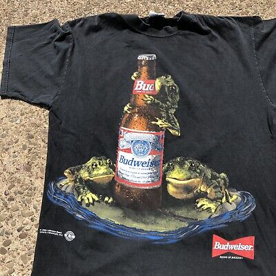 $ CDN91.64 • Buy Vintage 1996 Budweiser T Shirt Double Sided Size Large