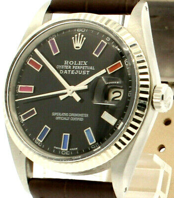 $ CDN5816.55 • Buy Mens Vintage ROLEX Oyster Perpetual Datejust 36mm BLACK Dial Watch
