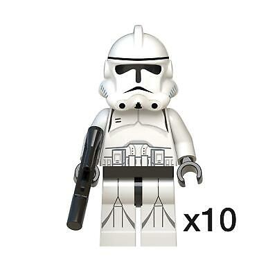 10x White Clone Troopers. Star Wars Mini-figures. Lego Compatible - NEW  • 12.99£