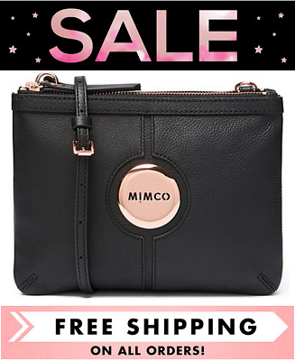 AU135 • Buy Mimco Mim Couch Hip Bag Black Rose Gold Bnwt Dustbag Rrp$199 -free Postage