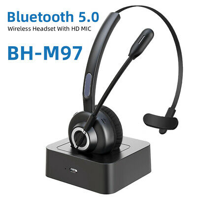 £27.01 • Buy VOIP Wireless Bluetooth Mic Earphones Headset For Online Chatting Calling Center