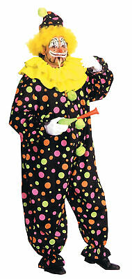 $45.25 • Buy Adult Neon Dotted Clown Costume Dress New Aa123