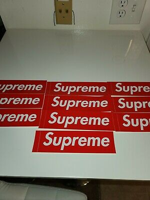 $ CDN31.25 • Buy Supreme Red Box-Logo Sticker 100% Authentic New 10-pack FAST SHIPPING