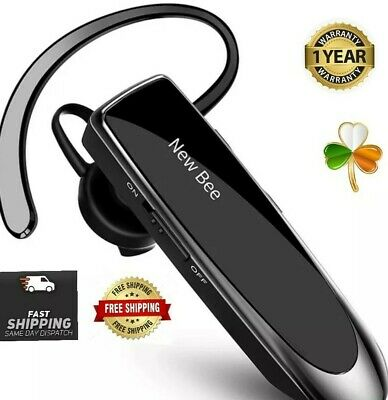 $ CDN43.49 • Buy New Bee Bluetooth Earpiece Wireless Headset Handsfree In Ear HD Sound