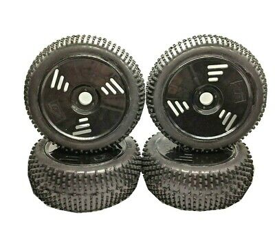 RC Car Wheels Tyres 1/8 Scale Off Road Rubber Monster Truck 4PCS *UK SHIPPING* • 18.99£
