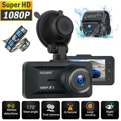 AU69.29 • Buy TOGUARD Dual 1080P HD Lens Car DVR 3  Dash Cam Reversing Camera Video Recorder A