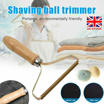 Wooden Manual Clothes Lint Pill Fluff Cleaner Remover Sweater Fabric Fuzz Shaver • 4.49£