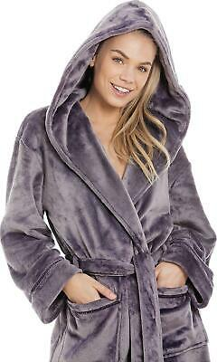Camille Bathrobe / Dressing Gown With Hood - Supersoft & Choice Of Colours • 14.99£