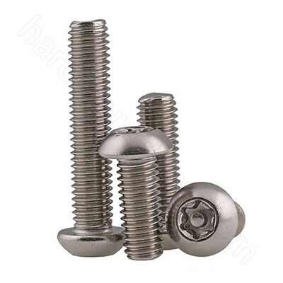 $2.19 • Buy Button Head Torx Security Pin Screws 304 A2 Stainless M3 M4 M5 M6 M8 M10 Bolts