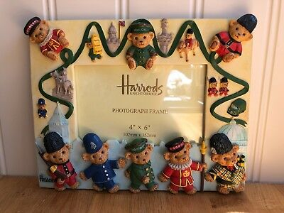 Rare Collectable Harrods Teddy Bears Picture Frame • 25£