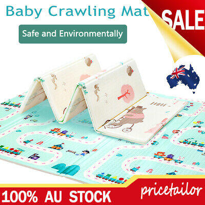 AU42.88 • Buy Foldable Baby Kids Play Mat Crawling Picnic Alphabet Floor Rug 200*180*1.0cm XPE