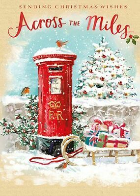 Christmas Card - Across The Miles - Post Box - At Home Ling Design Quality NEW • 2.50£