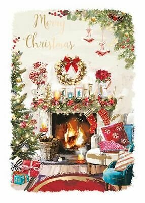Christmas Card - Cosy Xmas - Fireplace - At Home Ling Design Quality NEW • 2.50£