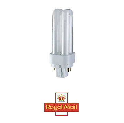 £6.99 • Buy 13W G24q-1 4 Pin Low Energy CFL Double Turn Light Bulb Extra Warm White 2700k