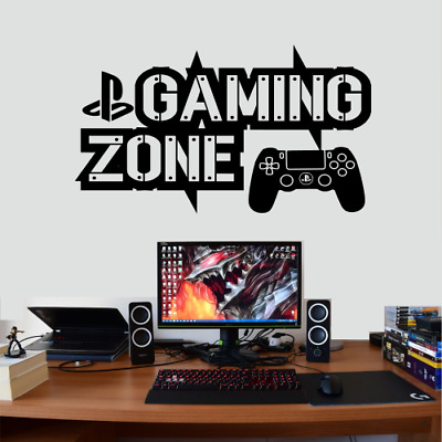 Xbox One Ps4 Gamer Gaming Zone Controller Wall Art Vinyl Gift Decal Sticker V62 • 6.45£
