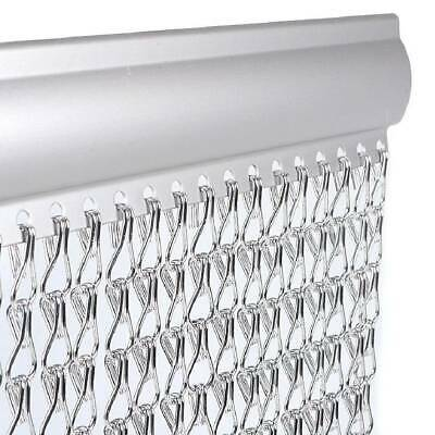 Chain Curtain Aluminum Door Curtain Metal Anti-Mosquito Pest Fly Insect Screen • 29.99£