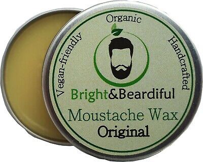 £3.99 • Buy Unfragranced Moustache Wax Strong Hold For Styling Handlebar Twists & Curls 15ml