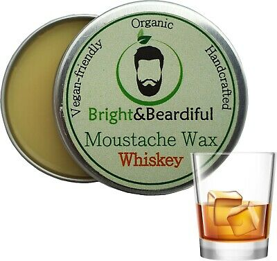 Whiskey Moustache Wax Strong Hold For Styling, Handlebar, Twists & Curls 15ml • 3.85£
