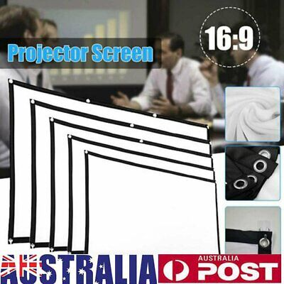 AU26.99 • Buy Foldable Projector Screen HD 16:9/4:3 Home Cinema In/Outdoor 3D Movie Projection