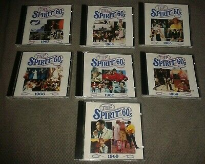 7 X Spirit Of The 60s Music CDs 1963 '64 '65 '66 '67 '68 '69 - 24 Tracks Per CD • 29.99£