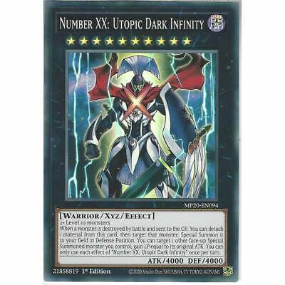 MP20-EN094 Number XX: Utopic Dark Infinity | 1st Edition Super Rare Card YuGiOh • 0.99£