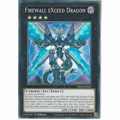 MP20-EN067 Firewall EXceed Dragon | 1st Edition | Super Rare YuGiOh Trading Card • 0.99£