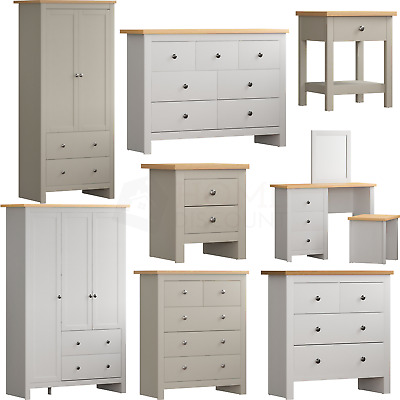 Arlington Chest Of Drawers Bedside Cabinet Dressing Table Bedroom Furniture • 74.95£