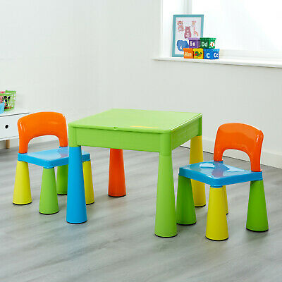 Kids Table And Chairs 5-in-1 Activity Play Table And Chairs -  Multicoloured • 55.99£