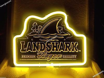 $ CDN82.34 • Buy Rare LANDSHARK Land Shark Lager Beer Home Bar Real Neon Light Sign Free Shiping