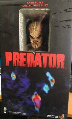 AU325 • Buy *FREE POST IN AUST* Hot Toys PREDATOR Bust 10in 1/4 Scale NEVER DISPLAYED