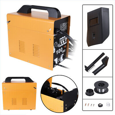 Portable MIG 100 No-Gas MIG Welder Professional 30Amp 230V Welding Machine UK • 79.55£