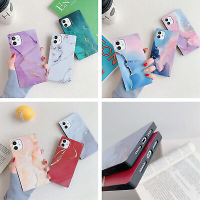 AU5.59 • Buy Square Marble Soft Silicone Case Cover For IPhone 12 11 Pro Max XS XR X 7 8 Plus